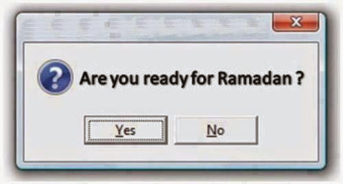 Ready For Ramadhan