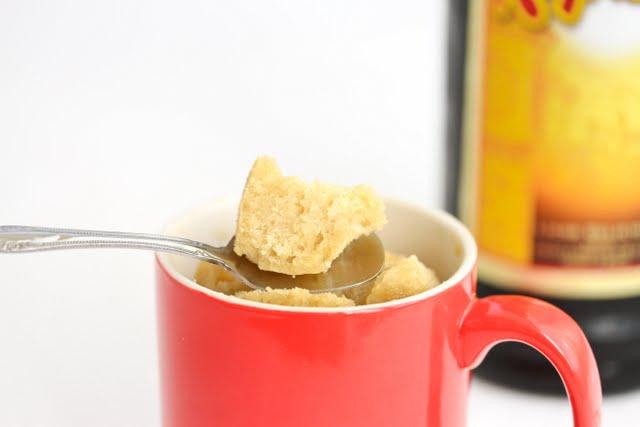 photo of a spoonful of Kahlua Mug Cake