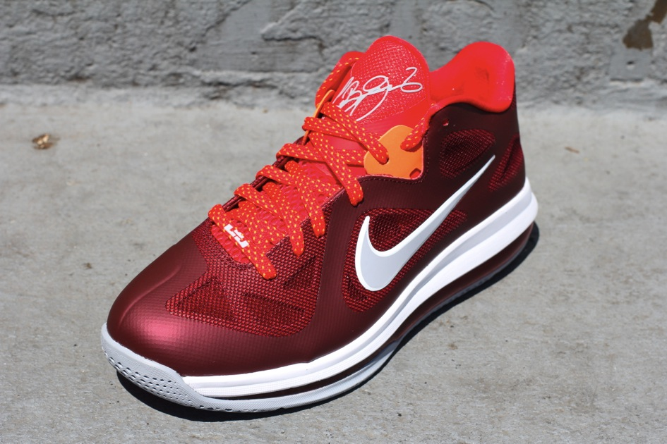 Nike LeBron ST Low 2 Cool Grey Sport Red White
