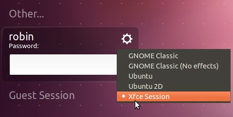 Ubuntu 11.10 LightDM session selection