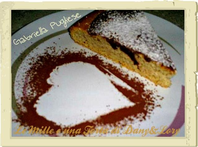torta di albumi al limone variegata al cacao