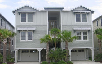 oceanfront home in Kure beach on S Fort Fisher