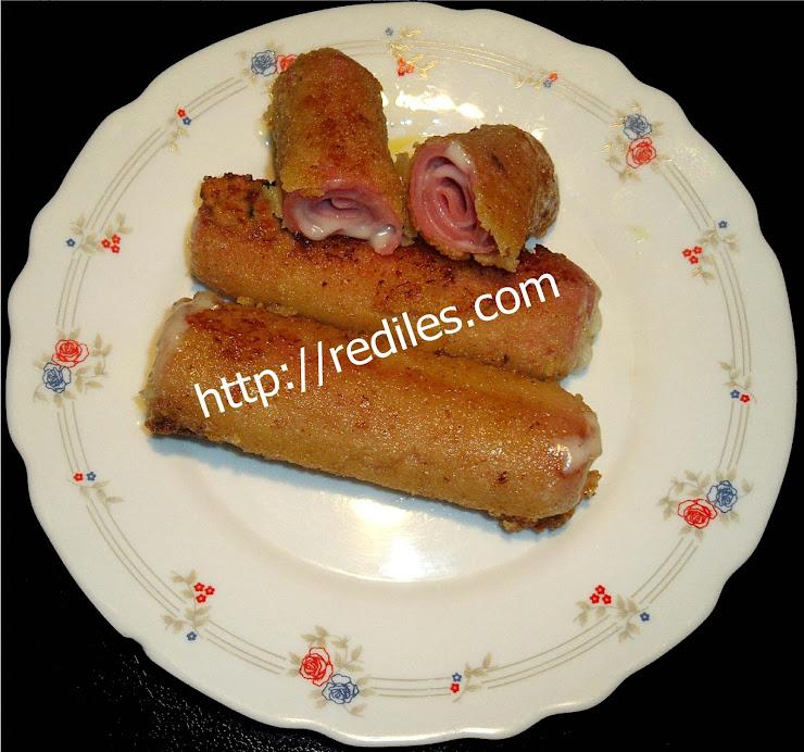 Rollitos de jam n y queso cocina f cil - Ana cocina facil ...