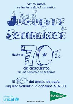 Juguetes solidarios El Corte Inglés