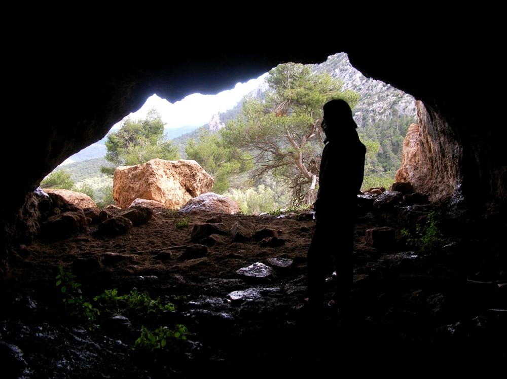 En una de las cuevas