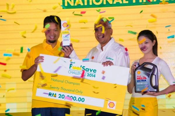 Muhammad Kamal Asyraf pemenang cabaran Shell FuelSave 2014