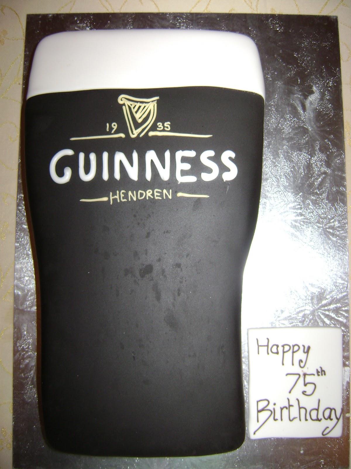 Pleasant Caroline Jane Cakes Pint Of Guinness Birthday Cake Birthday Cards Printable Benkemecafe Filternl