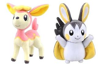 Pokemon Plush Deerling Emolga Tomy