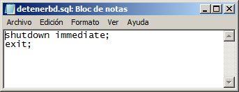 Automatizar mediante scripts la copia de seguridad física fuera de línea en Oracle 11g