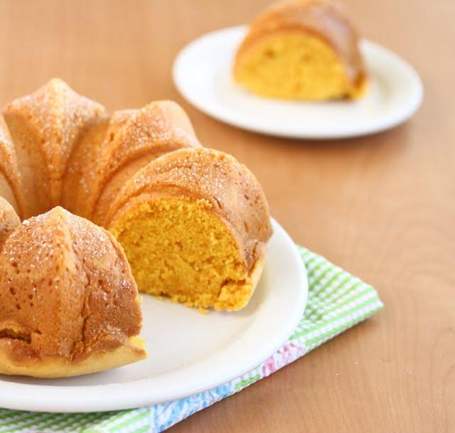 photo of a Eggless Pumpkin Custard Cake