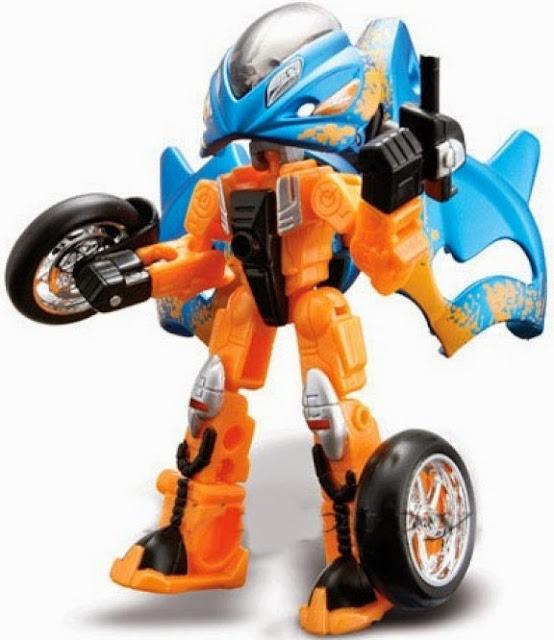 Mô tô Prodigy có thể lắp ghép từ xe mô tô thành các chiến binh Robot