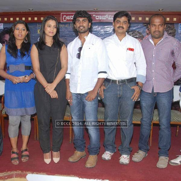 The cast and crew of Miss Mallige at the press meet of Miss Mallige.