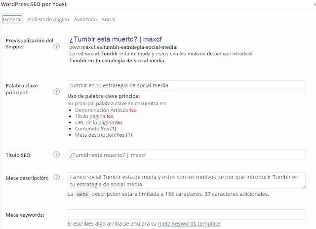 Guía para configurar correctamente el SEO de tu blog
