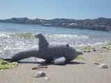 Amigurumi de delfín a crochet o ganchillo
