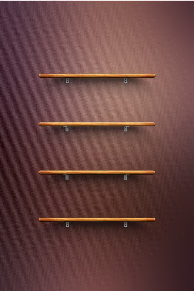 HD 3D Shelf Wallpapers For iPhone4