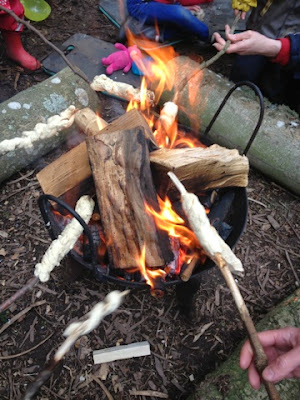 Damper Bread & Marshmallows on the Campfire