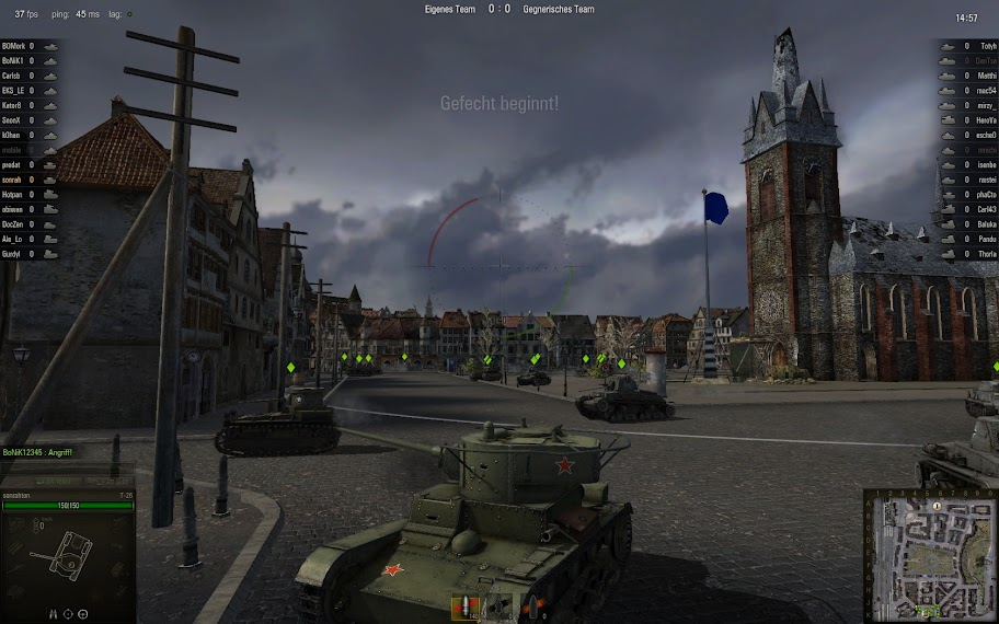 World of Tanks - Gameplay Screenshot / Stadtkampf