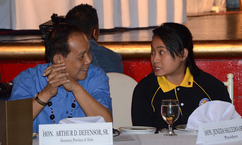 Governor Defensor with Jeneda Orendain