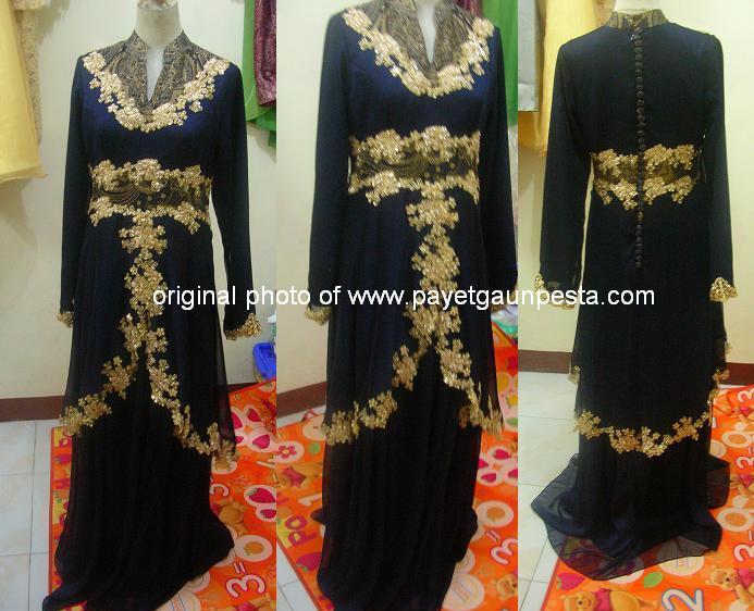 Gaun Pesta Muslim Batik
