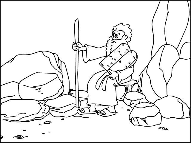 Los niños y la Biblia: Secuencia Historia de Moisés para colorear.