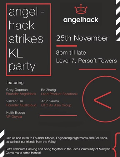 angelhack party malaysia flyer