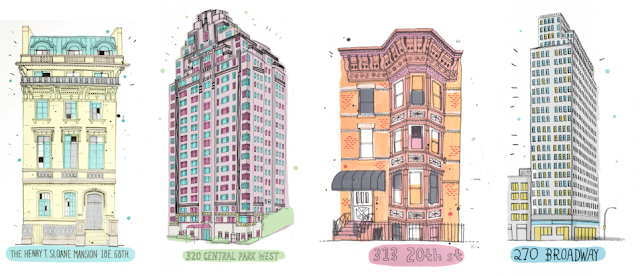 how to draw a apartment building