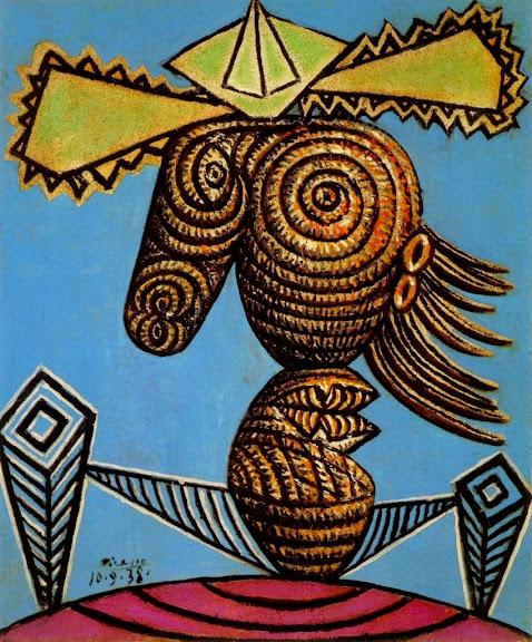 Pablo Picasso - Figure feminine au chapeau assise sur une chaise-1938