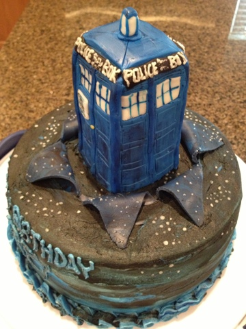 Awesome Cats Cake Creations Doctor Who Tardis Birthday Cake Funny Birthday Cards Online Alyptdamsfinfo