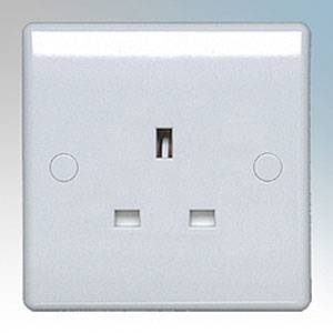 BG Nexus 823 - 13A Unswitched Single Socket, Nexus white moulded