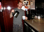Aden always gets the coffee ready for the next morning...but without Scotty there's nobody to make coffee for