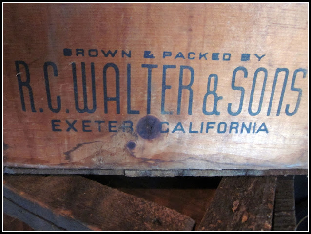 Vintage crate with writing.