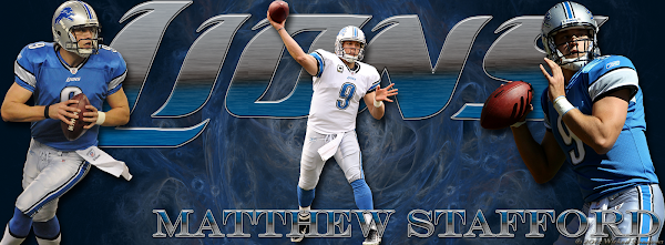 Detroit Lions Matthew Stafford Facebook Cover Photo