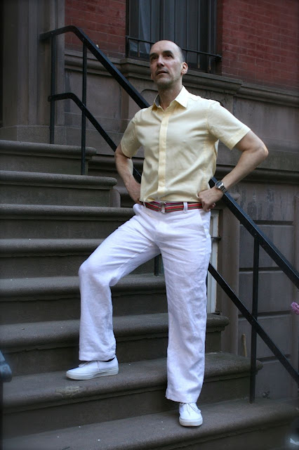 "White Linen Pants and ""Butter"" Cotton Shirt - Mood Sewing Network"