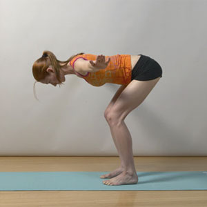 FLAT BACK POSITION WITH KNEES SLIGHTLY BENT