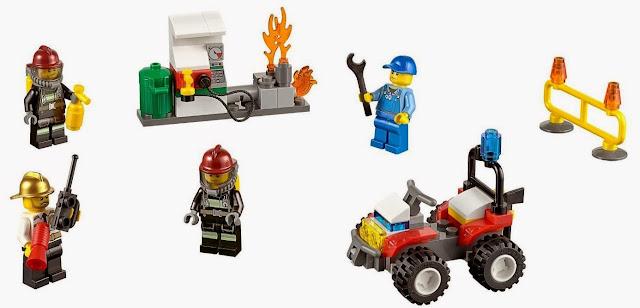Lego 60088 Khởi đầu cứu hỏa Fire Starter Set cho bé lắp ráp thành công hiện trường vụ chữa cháy