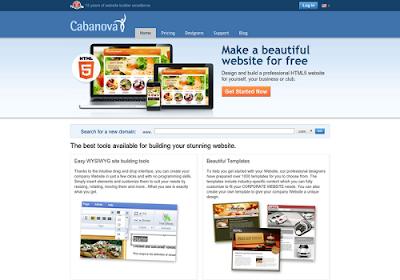 cabanova.com free online website builders