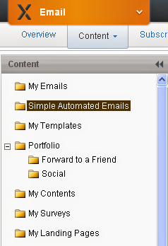 ExactTarget simple automated emails
