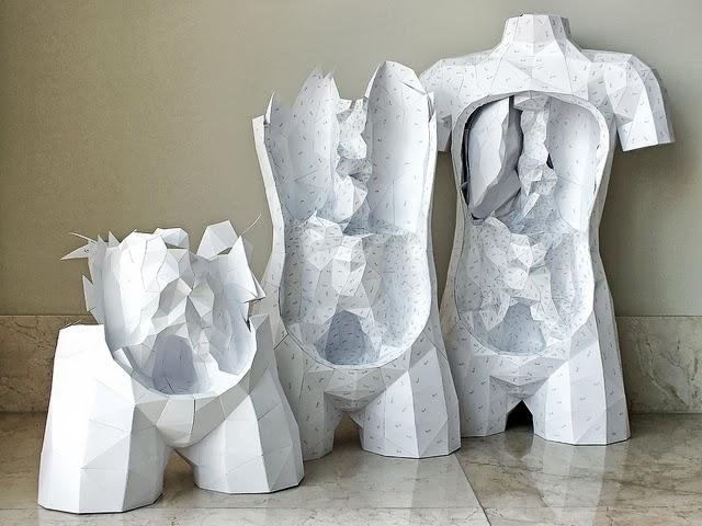 Paper Torso by Horst Kiechle