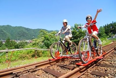 旧神岡鉄道 レールマウンテンバイク