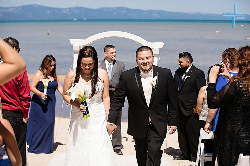 Tahoe Beach Wedding