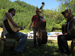 we get down to the campsite and get right to jamming