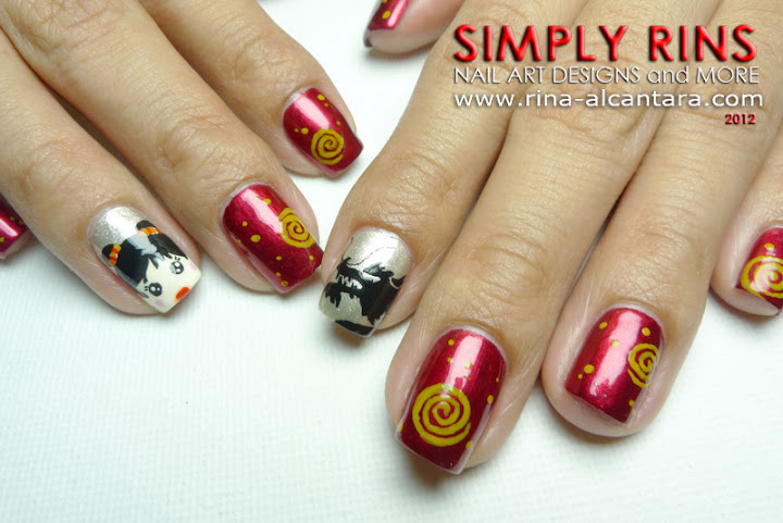 Nail Art Chinese New Year 2012 Simply Rins