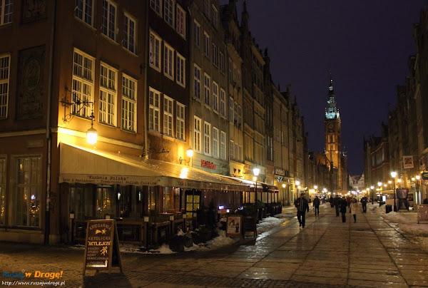 gdańsk - stare miasto nocą