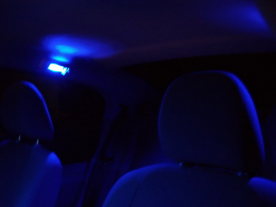 Rear seat map lights