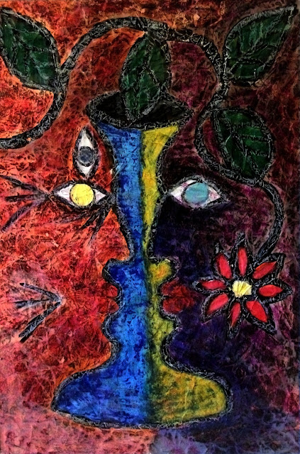 THIRD EYE, by srs, 53 x 35.5 cm pastels, oil crayons and watercolour on art paper