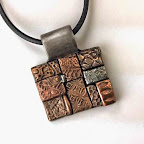 Square Pendant in Four Metals