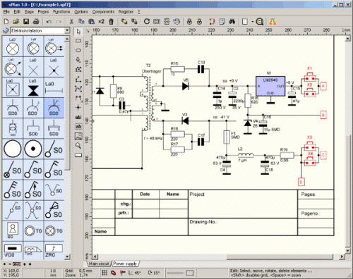 sPlan 7.0, Easy Schematic Editor for Windows - Microcontroller ... on free venn diagram, free design, logic synthesis, free electronics, free schedule, free assembly, free sectional, free logic, free pictogram, free cad, free drawing, electronic design automation, digital electronics, schematic editor,
