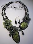 """Колье """"Зачарованный лес"""" из бисера с натуральными камнями Beaded Necklace """"The Enchanted Forest"""" with natural stones"""