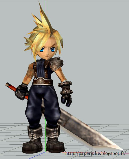 Chibi Cloud Strife Papercraft