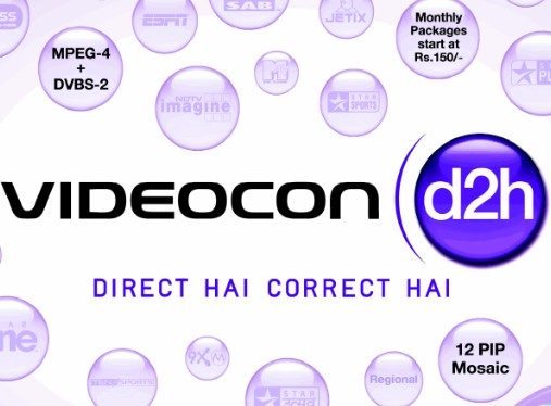 Videocon D2H Announced addition of 6 HD Channels and 13 SD Channels